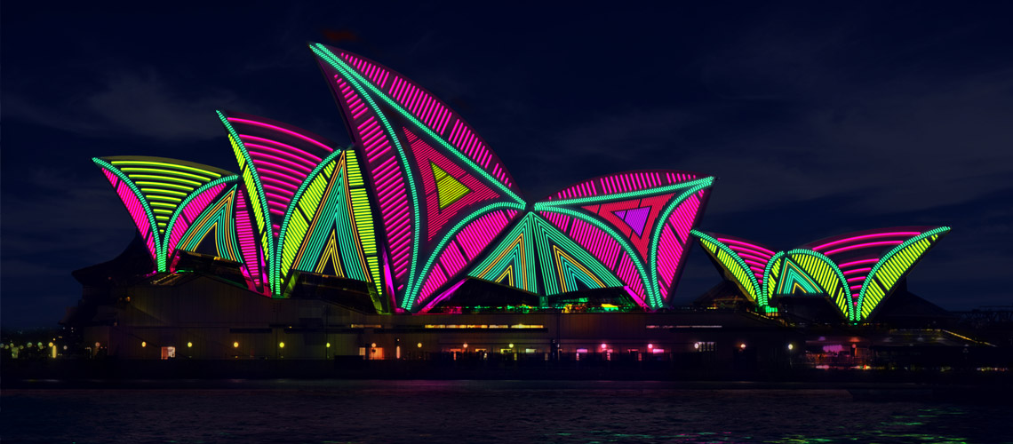 water taxis vivid light festival