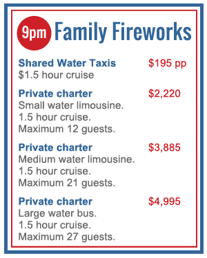 new years eve harbour cruise