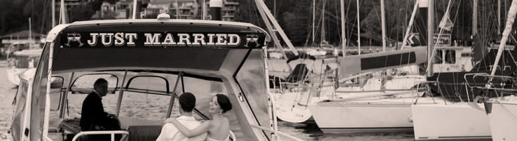 wedding transport water taxi sydney harbour