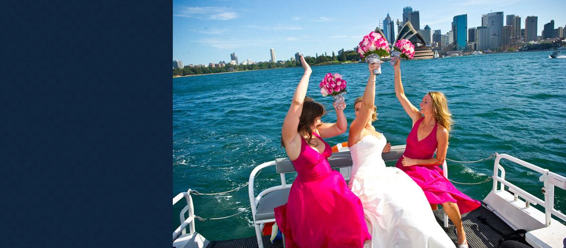 wedding taxi sydney harbour