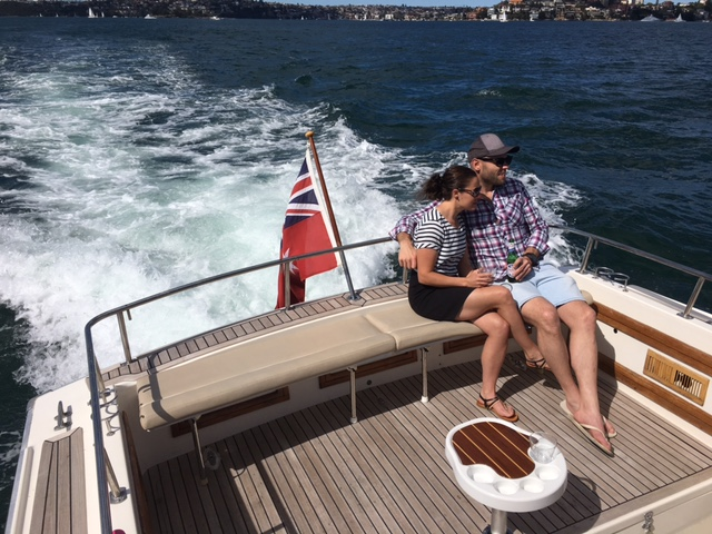 private harbour cruises mv salute couple on back