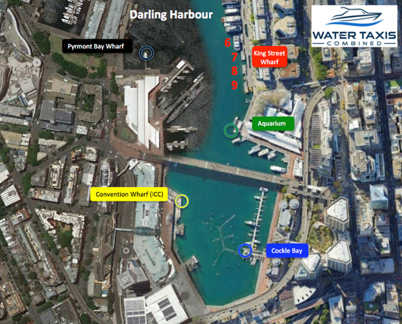 water taxi darling harbour pickup location