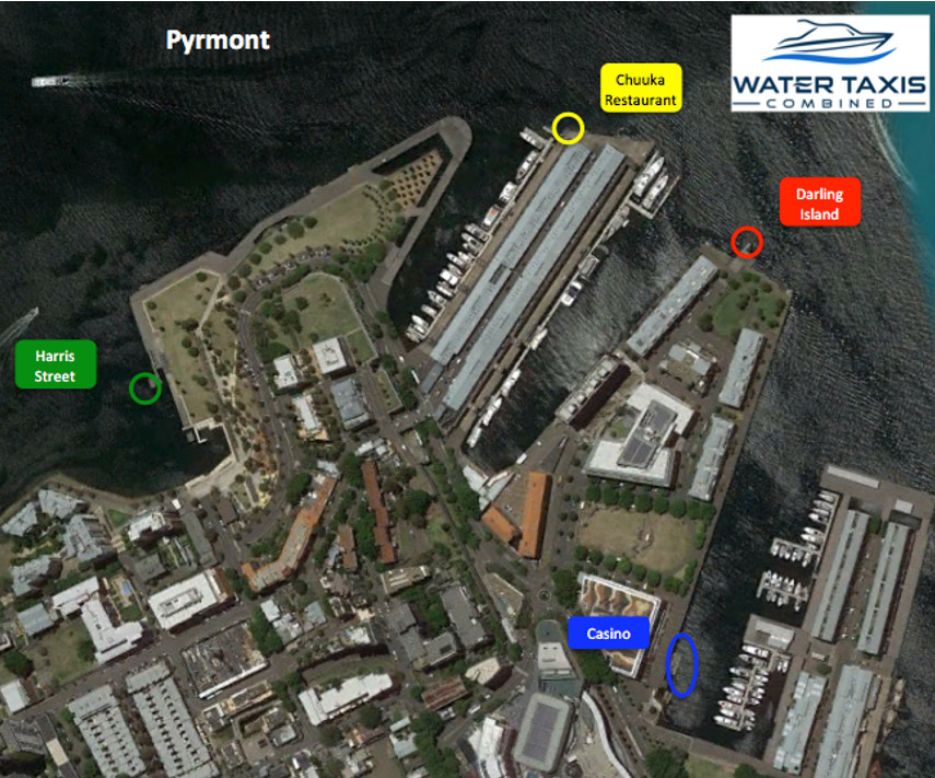 water taxi pyrmont pickup location