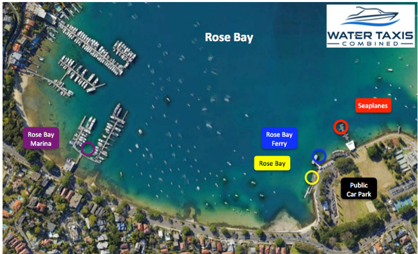 water taxi rose bay pickup location