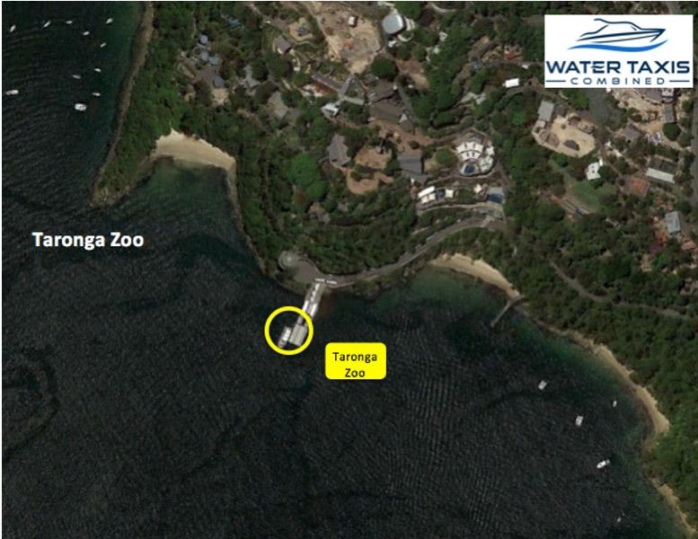 water taxi targona zoo pickup point