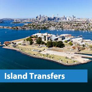 sydney harbour island transfers